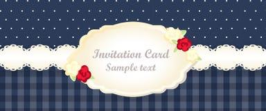 Classic romantic invitation design. vector Stock Photo
