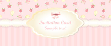 Classic romantic invitation design. vector Royalty Free Stock Photos