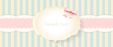 Classic romantic invitation design. vector. yellow and blue Royalty Free Stock Photos