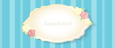 Classic romantic invitation design. vector. yellow and blue Royalty Free Stock Photo