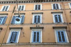 Classic Rome - old style windows royalty free stock image