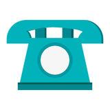 Classic rotary telephone icon. Simple flat design classic rotary telephone icon  illustration Stock Photography