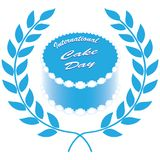 Symbol of International Cake Day. Classic round cake with an ornament on the edge for International Cake Day Stock Images