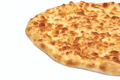 Classic Round Cheese Pie Or Quatrro Formaggi  Pizza, White Isola Royalty Free Stock Photos