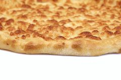 Classic Round Cheese Pie Or Quatrro Formaggi  Pizza, White Isola Royalty Free Stock Images