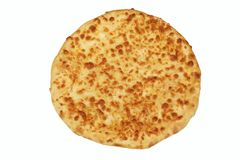 Classic Round Cheese Pie Or Quatrro Formaggi  Pizza, White Isola Stock Photography