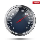 Classic round scale Speedometer. Vector Stock Image