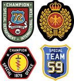 Classic royal emblem badge Stock Photos