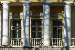 Classic russian manor in Moscow with colonade. Classic russian manor in old center of  Moscow Royalty Free Stock Photo