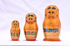 Classic Russian Matrioska Doll. Photo Picture of the Classic Russian Matrioska Doll Stock Image
