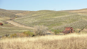 Classic rusted barn on a farm in Idaho Royalty Free Stock Image