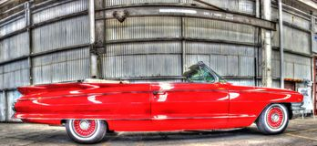 Classic 1960s American Cadillac convertible stock image