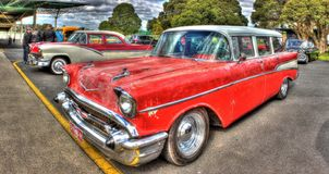 Classic 1950s American Chevy wagon Royalty Free Stock Image