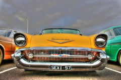 Classic 1950s American Chevy stock images