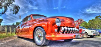 Classic 1950s American luxury car Royalty Free Stock Photo