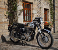Classic 1950s British Motorcycle Royalty Free Stock Image