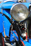 Classic 1940s british race car headlamp Royalty Free Stock Photo