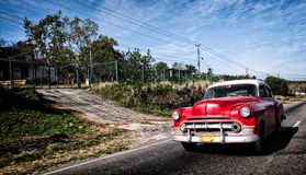 Classic 50s Cuban car royalty free stock images