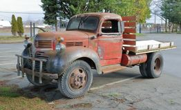 Vintage North American Farm Truck Stock Image