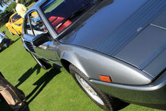 Classic 80s ferrari sports car detail Stock Photography