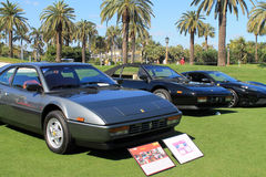 Classic 80s ferrari sports car with others Royalty Free Stock Photography