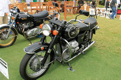 Classic 1970s moto guzzi motorcycle Royalty Free Stock Photos