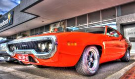 Classic 1970s Plymouth Roadrunner royalty free stock image