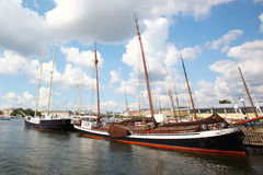 Classic sailboat in the stockholm Royalty Free Stock Photography