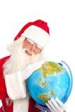Classic Santa Looking at Asia Stock Photo