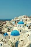 Classic Santorini Oia Cityscape Stock Photos