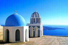 Classic Santorini scene Stock Photo