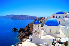 Classic Santorini scene Royalty Free Stock Image