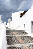 Classic Santorini scene, Greece Royalty Free Stock Images
