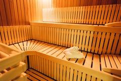 Classic sauna cabin Stock Images