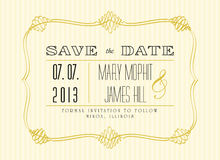 Classic Save the Date. In retro style Royalty Free Stock Images