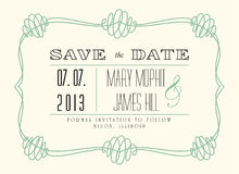 Classic Save the Date. In retro style Royalty Free Stock Photography