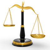 Classic scales of justice Royalty Free Stock Image