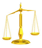 Classic scales of justice Royalty Free Stock Photos