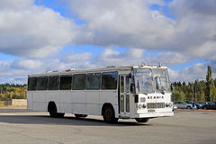 Classic Scania Lahti 20 Bus Departs Royalty Free Stock Photo