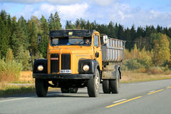 Classic Scania 110 Truck on the Road Royalty Free Stock Photography