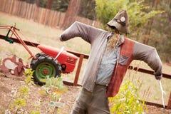 Classic Scarecrow and Quaint Garden Stock Photos