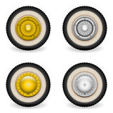 Classic scooter bike wheels Royalty Free Stock Photography