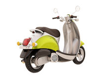 Classic scooter isolated Stock Photos