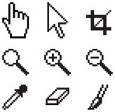 Classic screen tools. Illustration of some old-school screen tool icons. Isolated on a white background