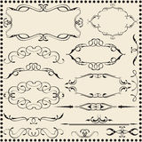 Classic scroll elements set Royalty Free Stock Photo