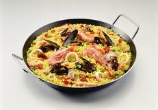 Classic seafood Paella Stock Photo