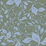 Classic seamless. Classic floral seamless gray background Royalty Free Stock Photography