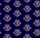 Classic seamless golden pattern with crown Royalty Free Stock Images