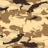 Classic Seamless Military Forest Camouflage Pattern Background. Stock Image