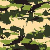 Classic Seamless Military Forest Camouflage Pattern Background. Stock Images